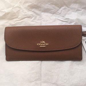 Coach•Soft Signature Brown Wallet